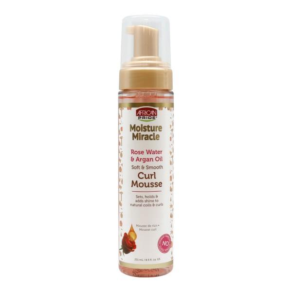 AFRICAN PRIDE Mousse capillaire spéciale boucles ROSE WATER & ARGAN OIL 251ml