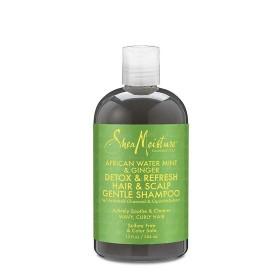 SHEA MOISTURE Shampooing Menthe d'eau, Gingembre & Charbon 384ml (Detox & Refresh Hair & Scalp)