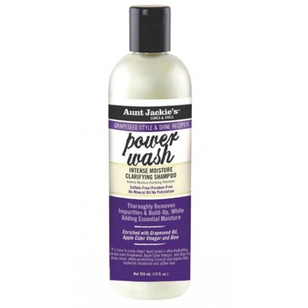 AUNT JACKIE'S Shampooing clarifiant VINAIGRE DE CIDRE & ALOE 355ml (Power Wash)