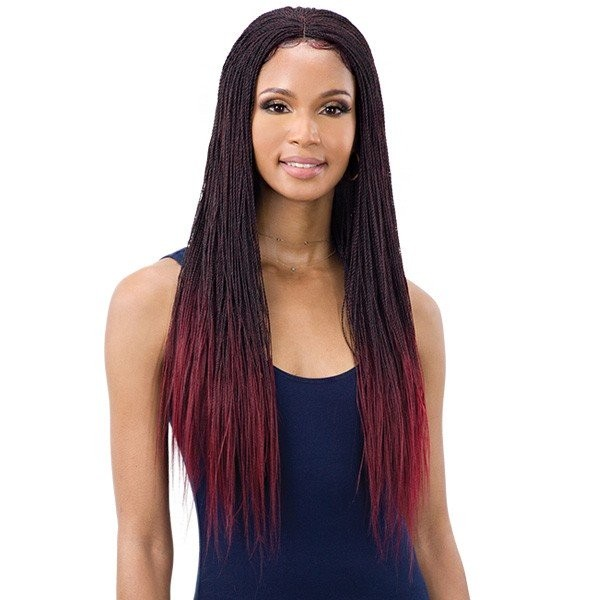 "EQUAL perruque nattée MICRO MILLION TWIST 22"" (Braided Lace Wig)"