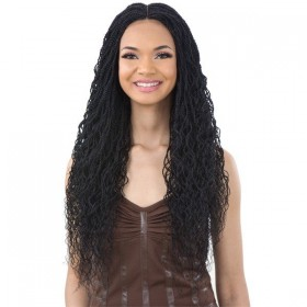 "EQUAL perruque nattée CURLY MILLION TWIST 22"" (Braided Lace Wig)"