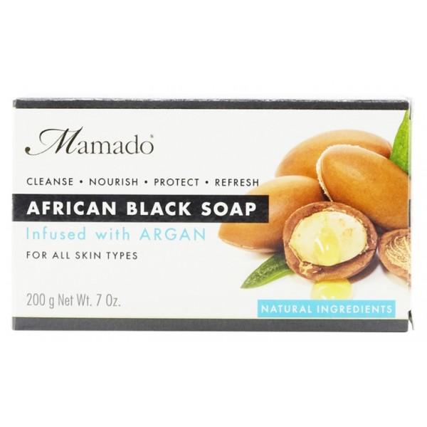 MAMADO Savon noir africain ARGAN 200g