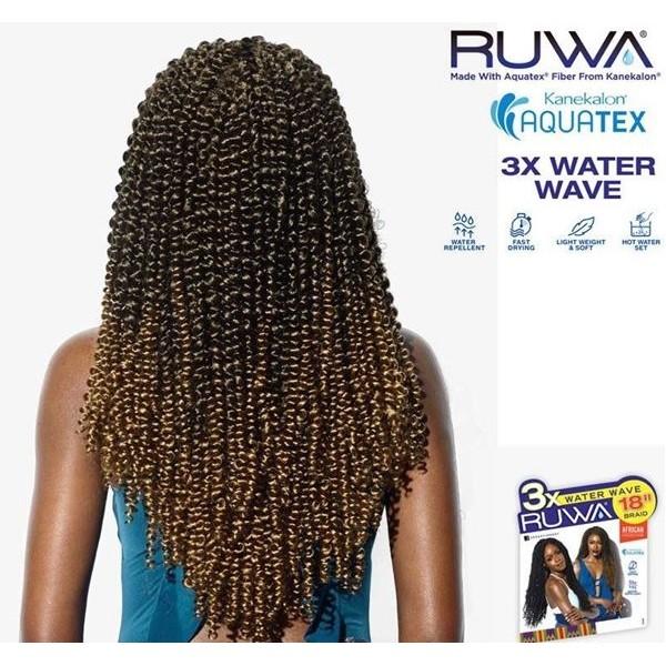 "SENSAS nattes 3x RUWA WATER WAVE 18"""