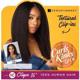 """SENSAS Clip Extensions 1C CLICK 18"""" (Curls Kinks & Co)"""