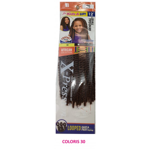 SENSAS natte KIDS SENEGAL TWIST 12""