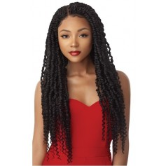 "OUTRE perruque nattée PASSION TWIST 28"" (Lace Front Braid Wig)"