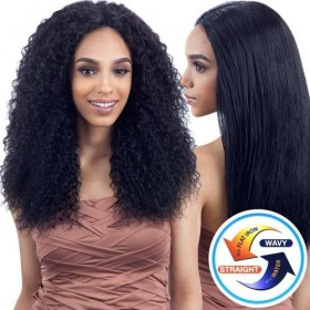 "MILKYWAY tissage brésilien BEACH CURL 7PCS 14"" 16"" 18"" (Wet & Wavy)"