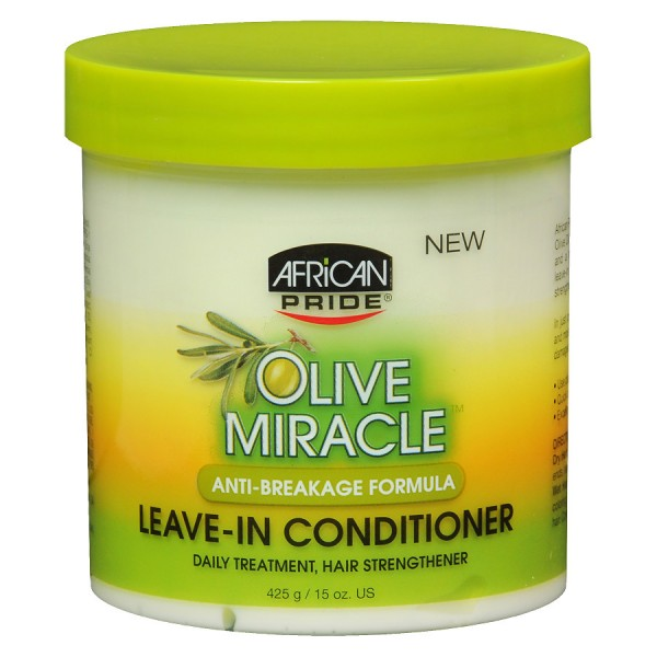 AFRICAN PRIDE Leave-In Conditionneur OLIVE MIRACLE (Anti Breakage) 425g