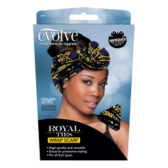 Foulard de tête BLEU ROYAL TIES WRAP SCARF (Evolve)