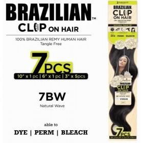 "HARLEM clip extensions BRAZILIAN WAVE NATURAL 14"" 7pcs"