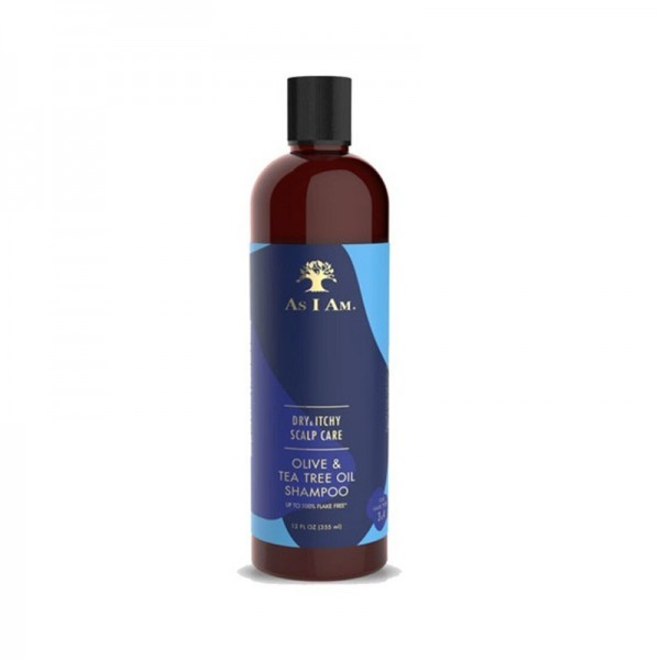 AS I AM Shampooing anti-pelliculaire OLIVE/ARBRE A THÉ 355ml (Dry & Itchy Scalp Care)
