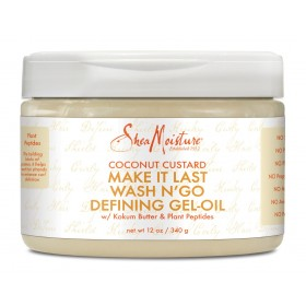SHEA MOISTURE Gel définissant pour boucles COCO 340g (Make it Last Wash n'go)
