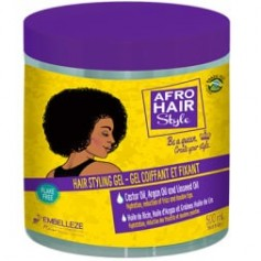 AFRO HAIR Gel coiffant & fixant ARGAN, RICIN & LIN 500ml (HAIR STYLING GEL)