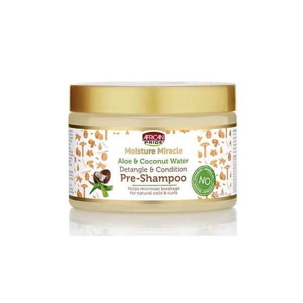 AFRICAN PRIDE Avant shampoing Aloé vera & Coco (Moisture Miracle) 340g Catalogue Produits