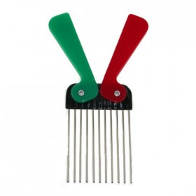 DREAM FIX Peigne Afro dents métal (Fold Pick Metal)