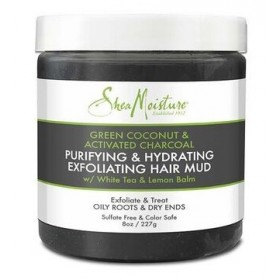 SHEA MOISTURE Gommage capillaire COCO VERT & CHARBON 227g (Purifying & Hydrating)