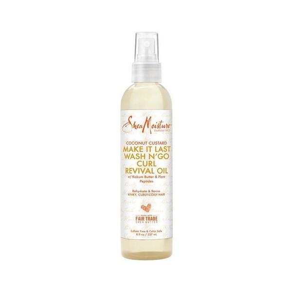 SHEA MOISTURE Spray huile COCO WASH N GO 237ml (Coconut Custard)