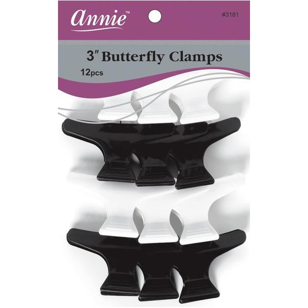 ANNIE 3181 Butterfly clamps for hair x12