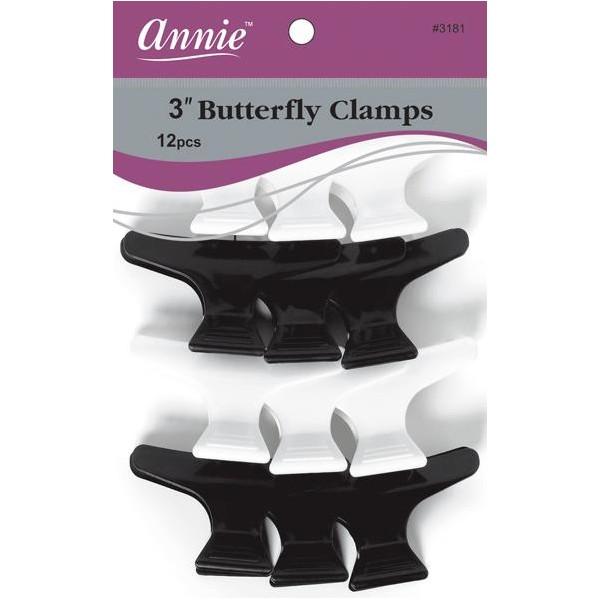 ANNIE 3181 Pinces pour cheveux x12 (Butterfly clamps)