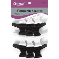 Butterfly clamps hair x12
