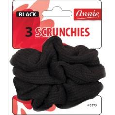Chouchou élastique noir x3 (Scrunchies)