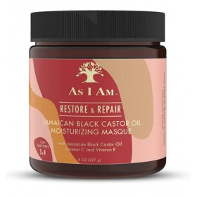 AS I AM Masque hydratant RICIN NOIR DE JAMAIQUE 227g (Restore & Repair)