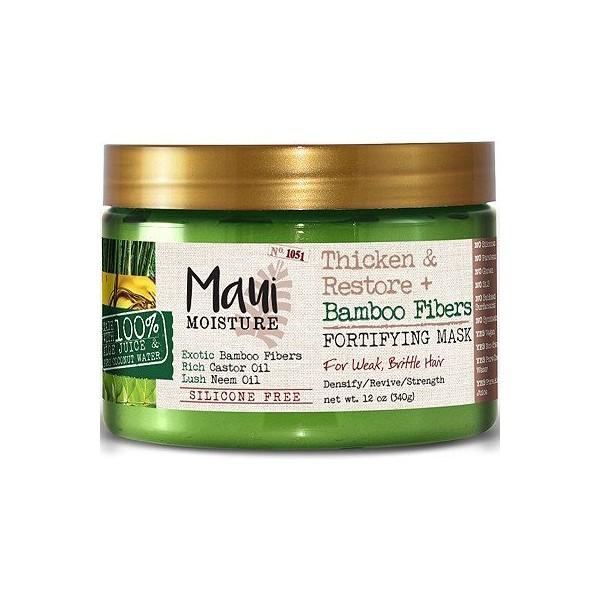 MAUI MOISTURE Masque capillaire fortifiant BAMBOU, RICIN, NEEM 340g (Thicken & Restore)