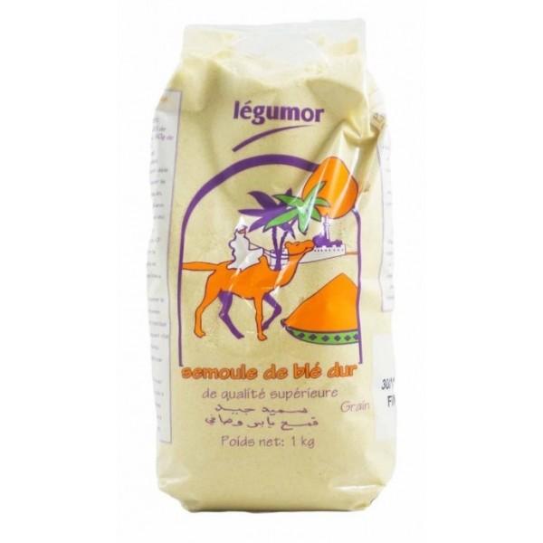 LÉGUMOR Semoule de blé dur FIN 1kg