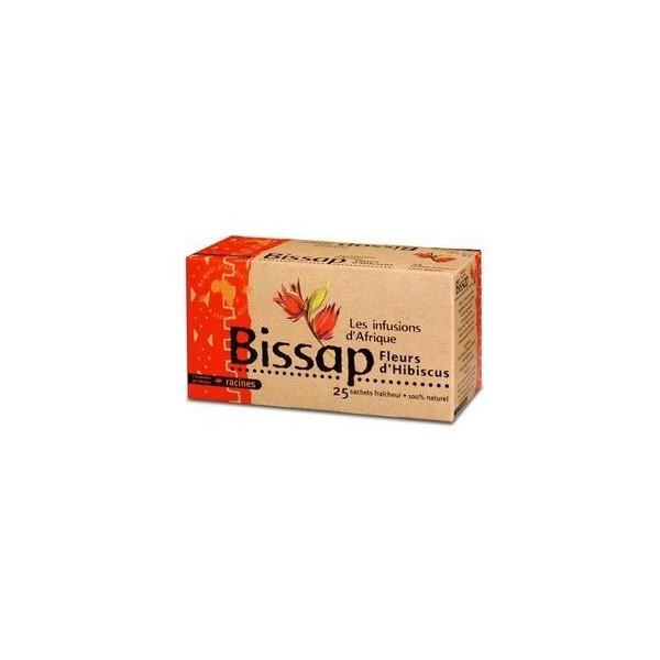 LES INFUSIONS D'AFRIQUE Plante à infusion BISSAP 100 % naturelle (25 x 1.6g)