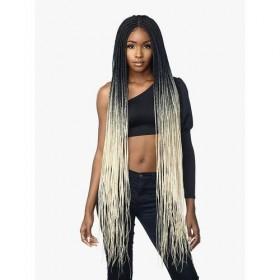 """SENSAS braided wig BOX BRAID 50"""" (Swiss Lace)"""