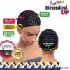 FREETRESS bonnet tressé pour tissage ou crochet BRAIDED CAP WITH COMBS
