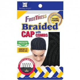 FREETRESS BRAIDED CAP WITH COMBS or BRAIDED CAP WITH COMBS hook