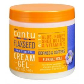 CANTU Flaxseed curl defining cream GRAINE DE LINSEED 453g (Flaxseed cream gel)