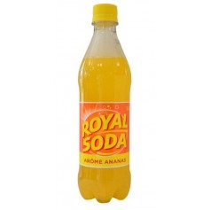 ROYAL SODA Carbonated Soft Drink ANANAS flavour 50cl