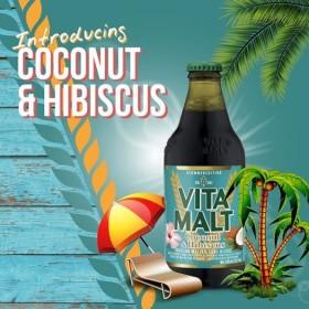 VITAMALT Alcohol-free malt beverage Coconut & Hibiscus 33cl