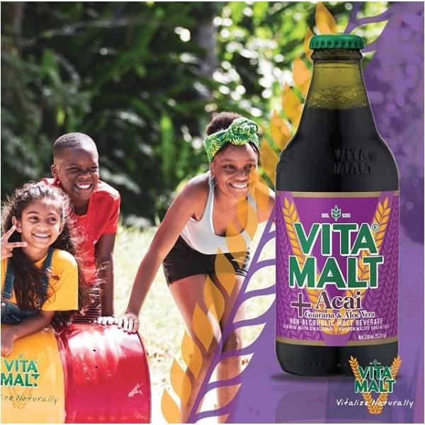 VITAMALT Boisson maltée sans alcool + ACAI GUARANA & ALOE 33cl