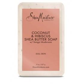 "Shea Moisture Savon Coco & Hibiscus ""Brightening Soap"" 227g"