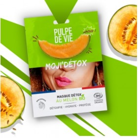 PULPE DE VIE Masque visage détoxifiant anti-pollution Bio MELON