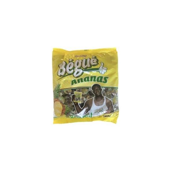 Bonbons gout ananas 100pcs BÉGUÉ