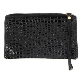 BE YOUR SELF MAQUILLAGE Trousse noire façon croco