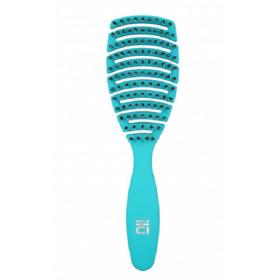 ILU Brosse démêlante aérée pour cheveux,Turquoise