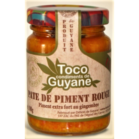Délices de Guyane Pâte de piment rouge TOCO 100g