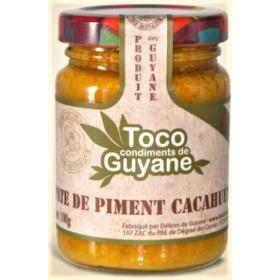 Délices de Guyane Chili pepper paste CACAHUETE 100g TOCO