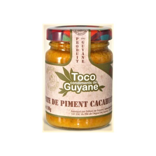 Délices de Guyane Pâte de piment CACAHUETE 100g TOCO