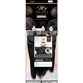 """OTHER NATURAL STRAIGHT weaving 3PCS 12"""", 14"""", 16"""" (MYTRESSES Black Label)"""