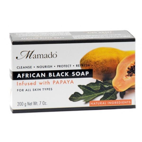 MAMADO Savon noir africain PAPAYE 200g