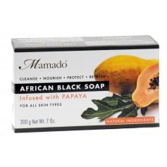 Savon noir africain PAPAYE 200g