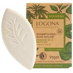 LOGONA Shampoing solide CHANVRE & ORTIE BIO 60g
