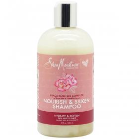 SHEA MOISUTRE Shampoing nourrissant à l'huile de fleur de ROSE 384ml