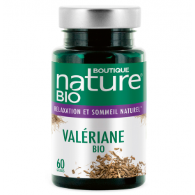 BOUTIQUE NATURE Food supplement VALERIANE ORGANIC 90 tablets (Relaxation & Natural Sleep)